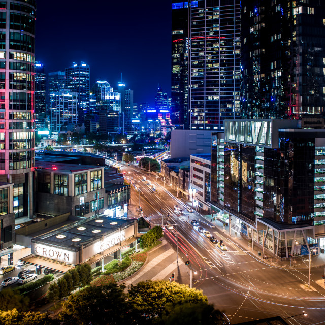 """Melbourne City Nights"" stock image"