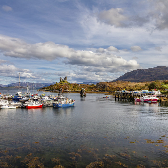 """Boats on Loch"" stock image"