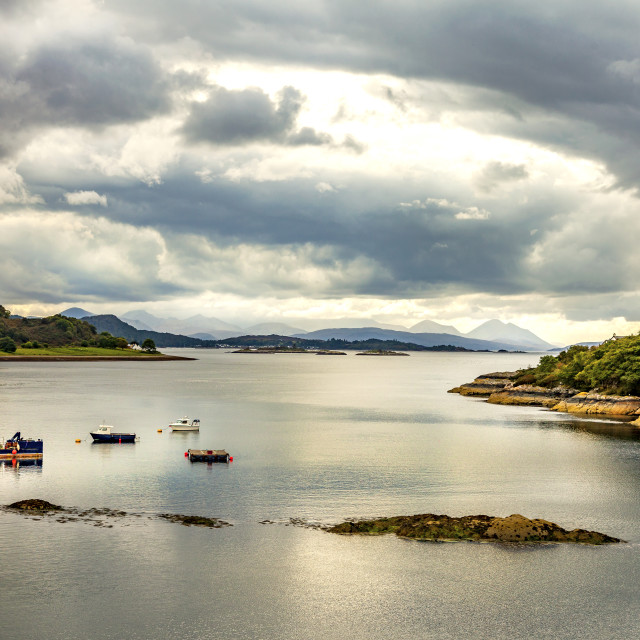 """Loch Carron"" stock image"