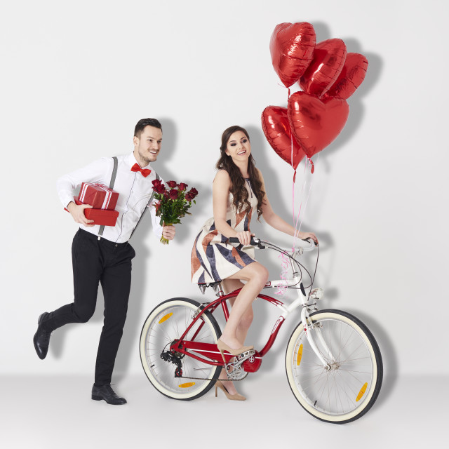 """Studio shot of love affair"" stock image"
