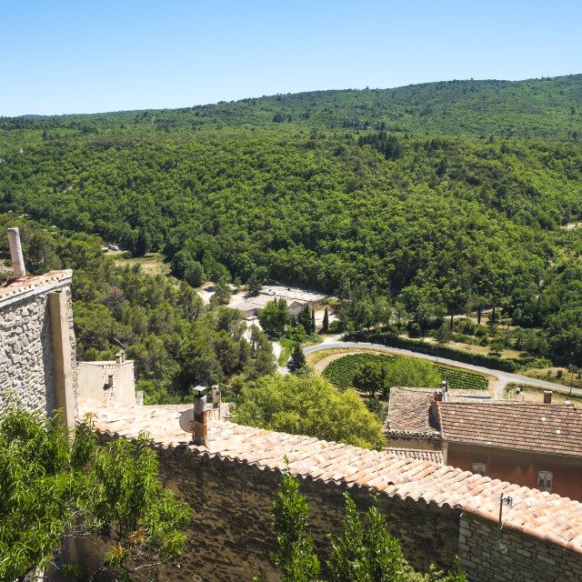 """""""Village of Boonieux in the Provence France"""" stock image"""