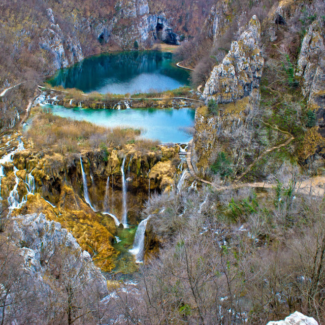 """Falling lakes of Plitvice national park"" stock image"