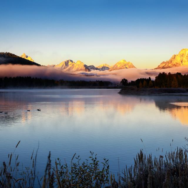 """""""Oxbow Bend, Grand Teton, Wyoming, USA"""" stock image"""