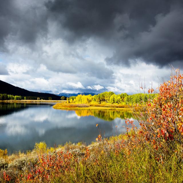 """Snake River, Grand Teton National Park, Wyoming, USA"" stock image"