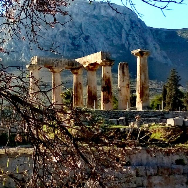 """Temple of god Apollon"" stock image"
