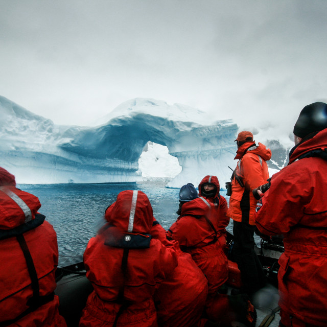 """Antarctic Tourists"" stock image"