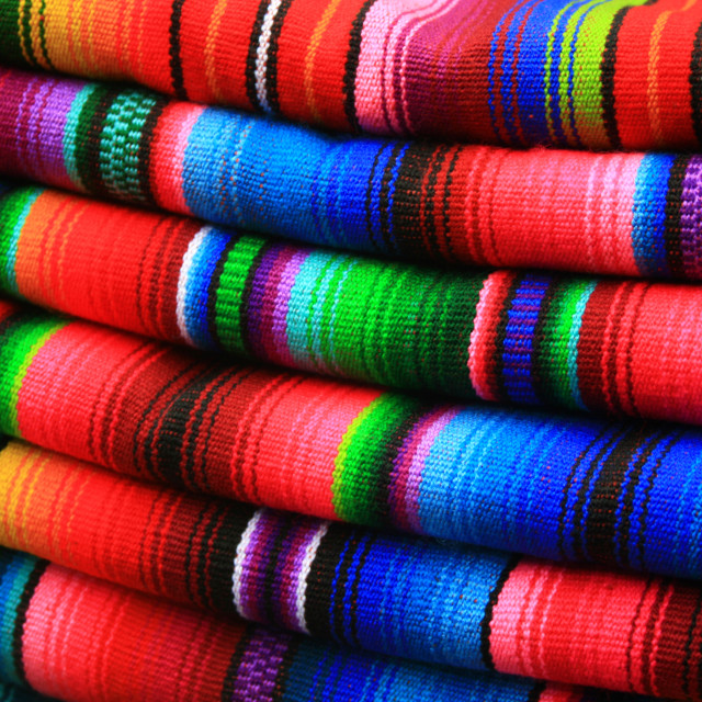 """Colorful Blankets"" stock image"