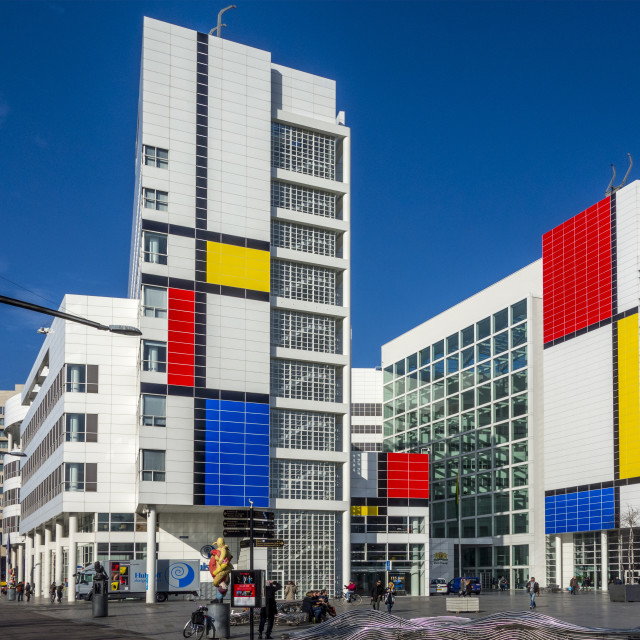 """Colored City Hall The Hague"" stock image"