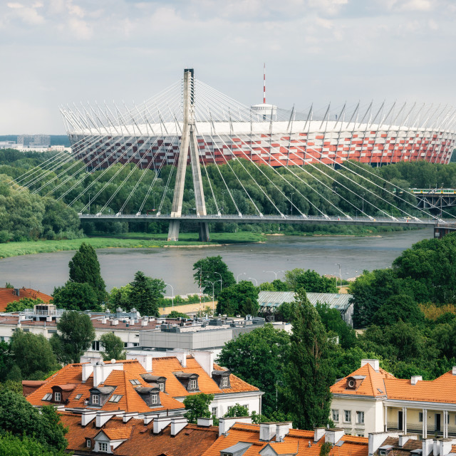 """Cityscape of Warsaw"" stock image"
