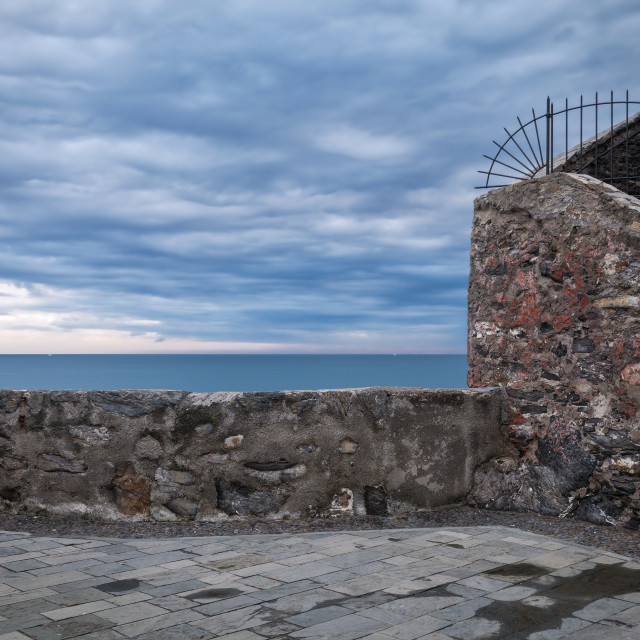 """Camogli, the castle. Color image"" stock image"