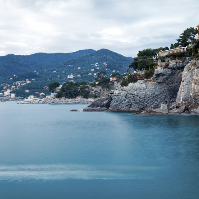 """Camogli, the bay. Color image"" stock image"