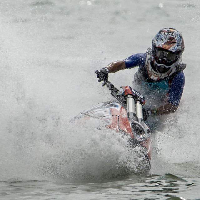 """""""Jet Ski Racer 2016"""" stock image"""