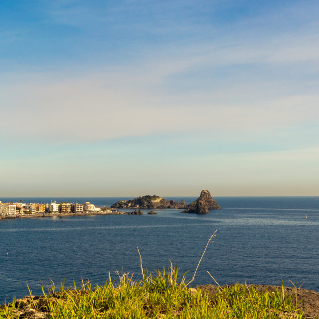 """""""Viwe Sicilian coast"""" stock image"""