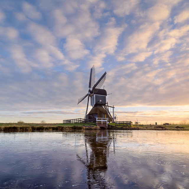 """Windmill on Ice"" stock image"
