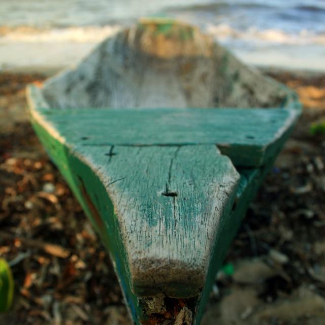 """Wooden Canoe"" stock image"