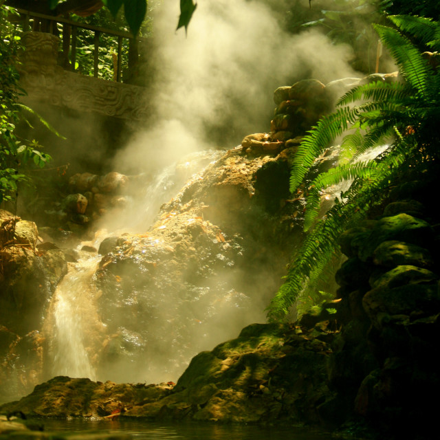 """Steamy Springs"" stock image"