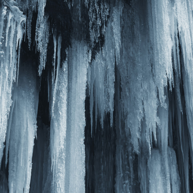 """abstract ice on frozen waterfall, winter background"" stock image"