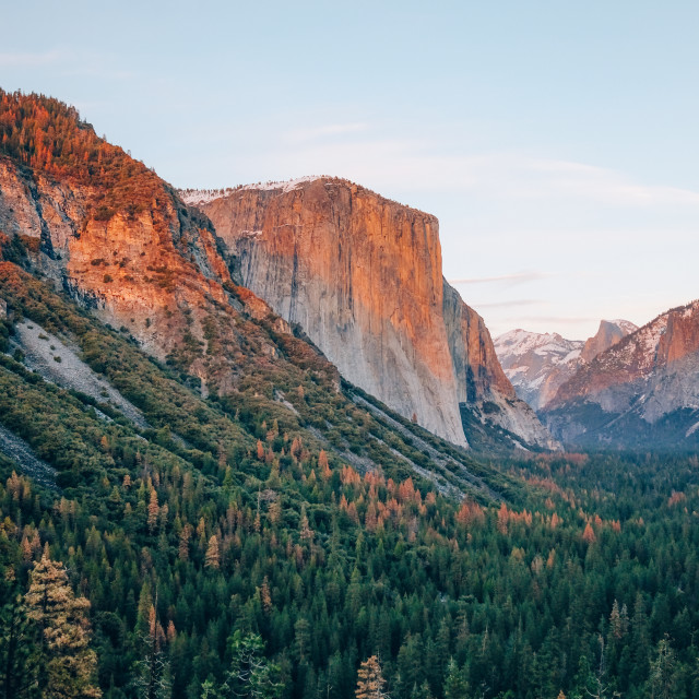 """Yosemite national park at sunrise"" stock image"