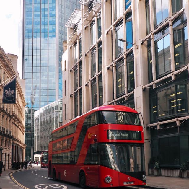"""London's double-decker"" stock image"