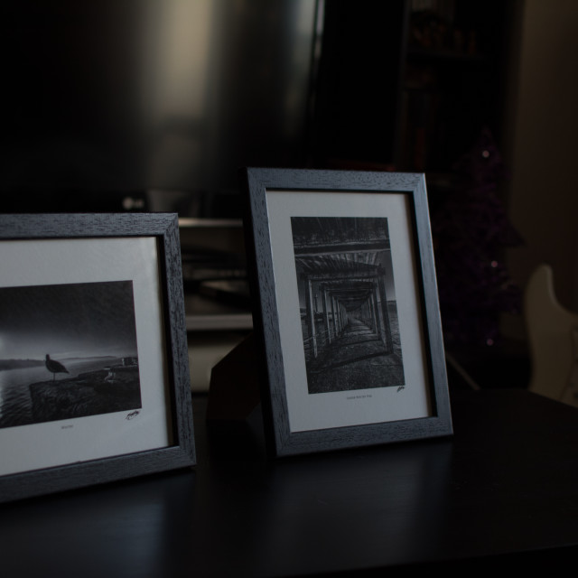 """Fine Art photos in Frames"" stock image"
