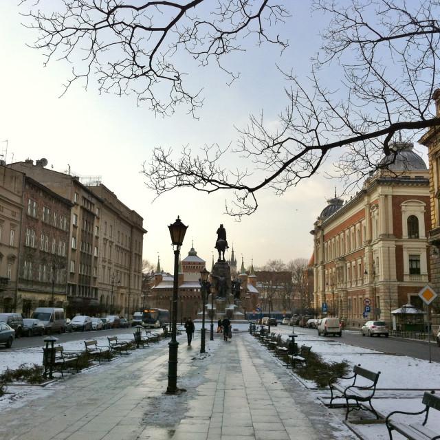 """Plac Matejki, Kraków"" stock image"