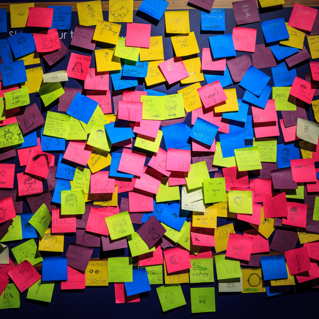 """Post-it notes"" stock image"