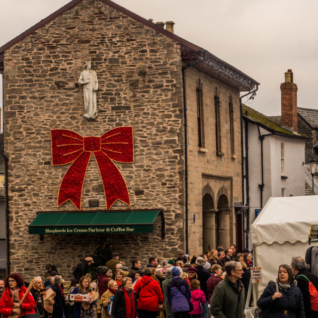 """Christmas, Hay-on-Wye"" stock image"
