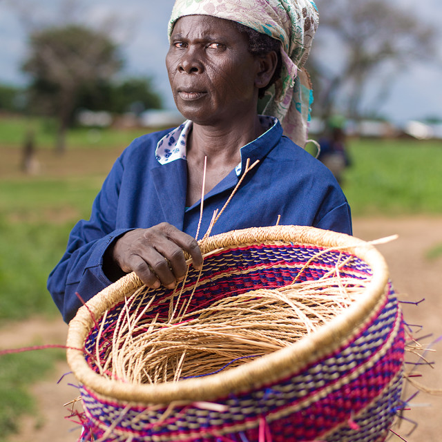 """Basket Weaver"" stock image"