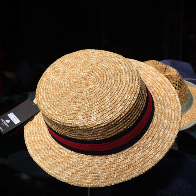 """Straw boater"" stock image"