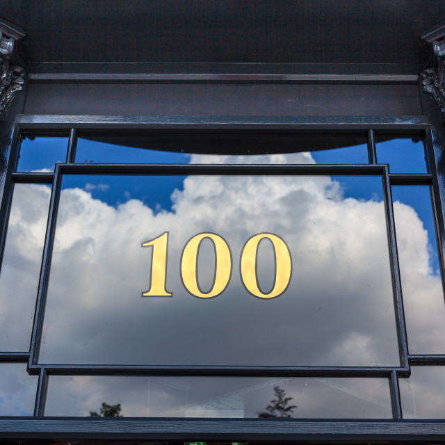 """Number 100"" stock image"