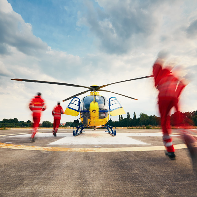 """Air rescue service"" stock image"