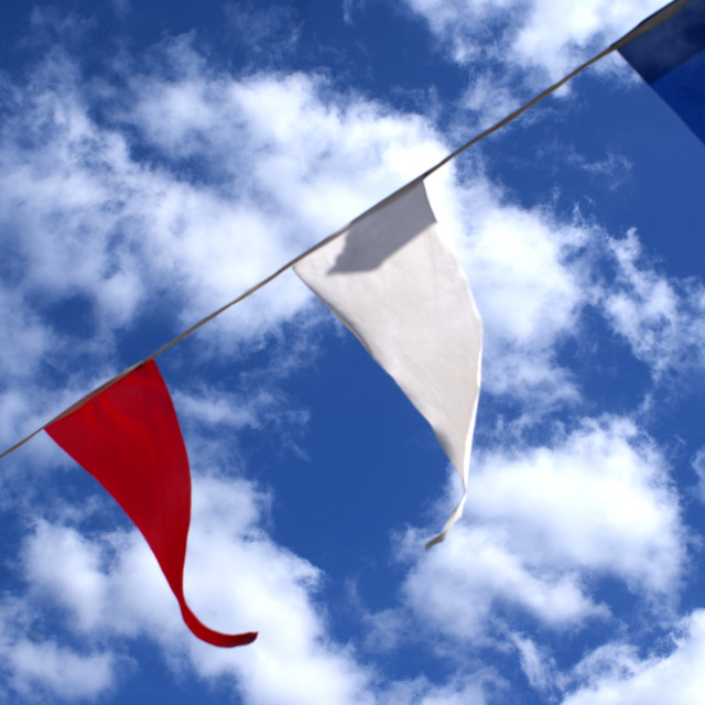 """Flags in the Sky"" stock image"