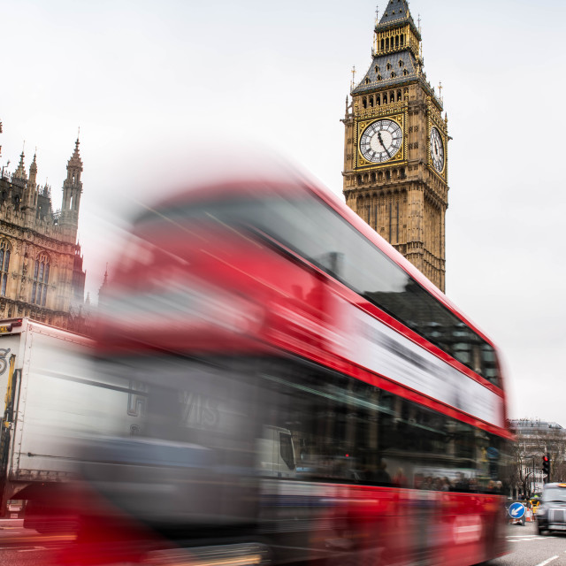"""Big Ben Bus"" stock image"