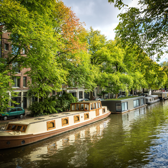 """Jordaan Houseboats"" stock image"