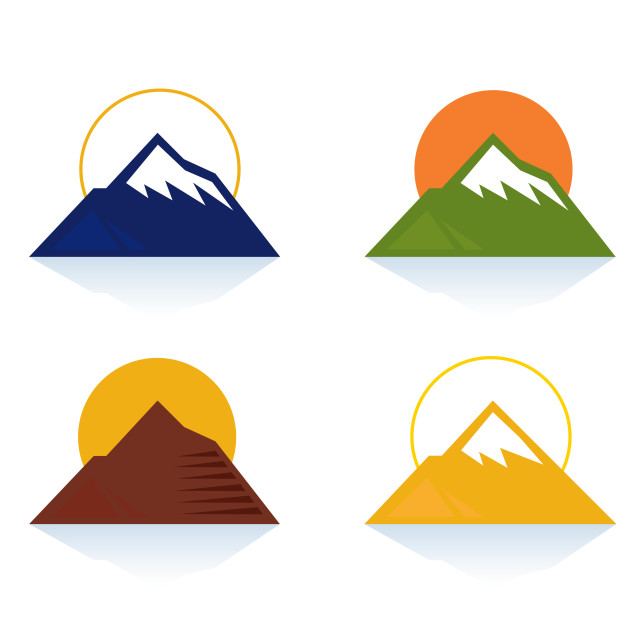 """Hills design collection : Mountain illustration"" stock image"