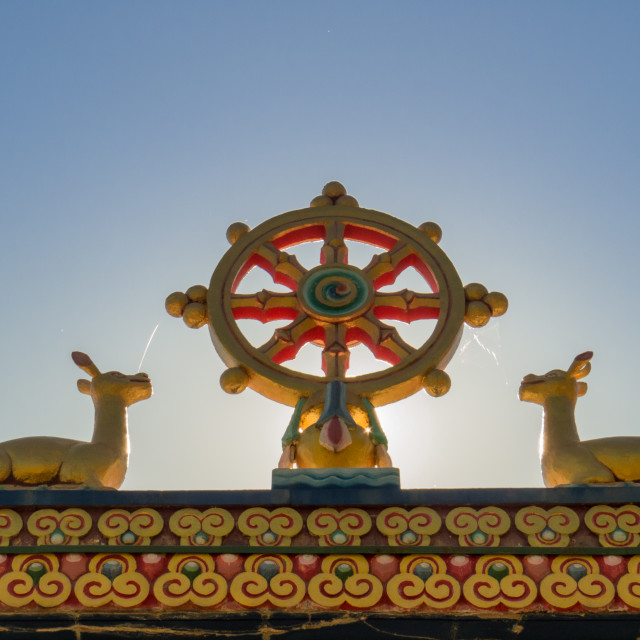 """DAG SHANG KAGYU buddhist temple panillo Spain"" stock image"