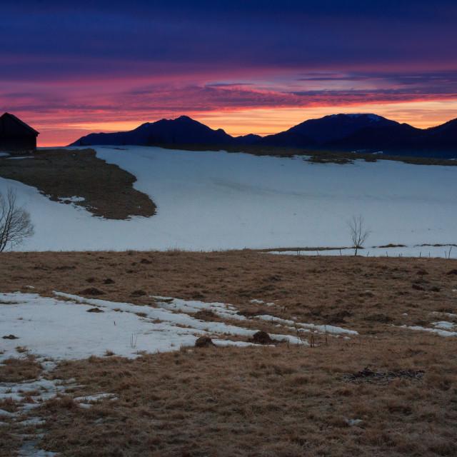 """""""Mountain Sunrise"""" stock image"""