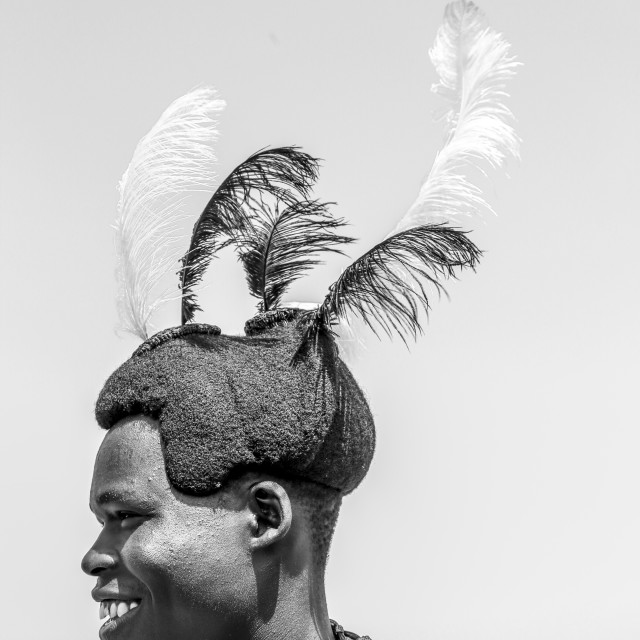 """Karamojong Head gear"" stock image"