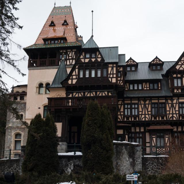 """Pelisor Castle"" stock image"