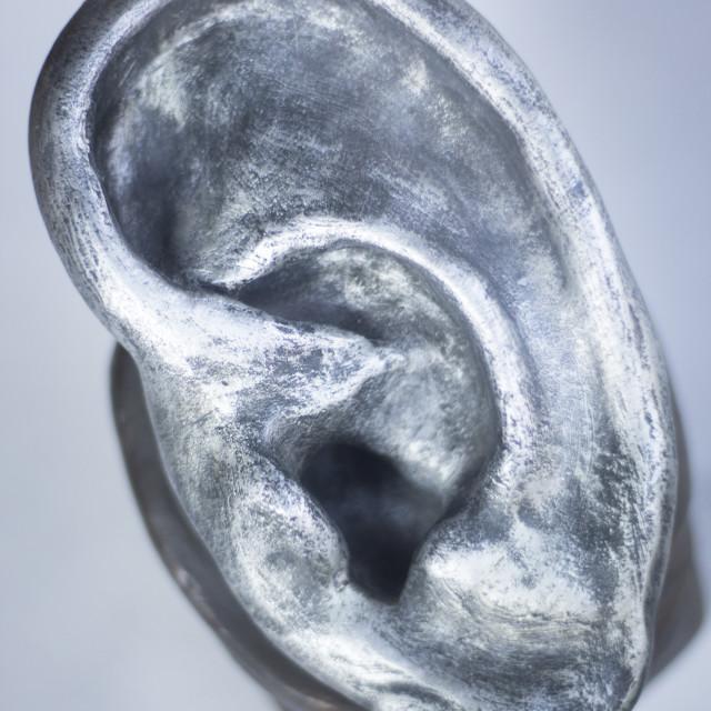 """""""Human ear Audiology model"""" stock image"""