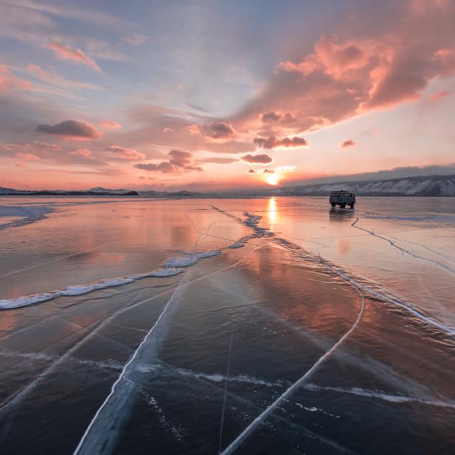 """Baikal Lake, Siberia"" stock image"