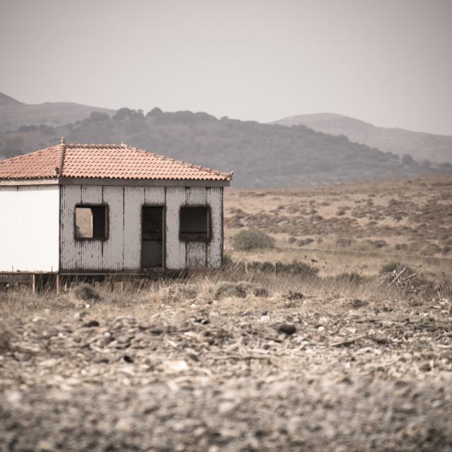 """Abandoned wooden house"" stock image"
