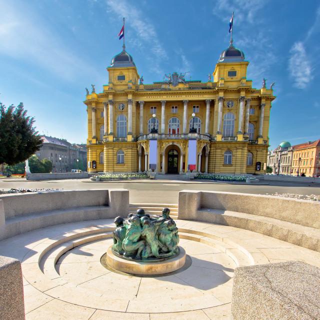 """Croatian nationa theater in Zagreb"" stock image"