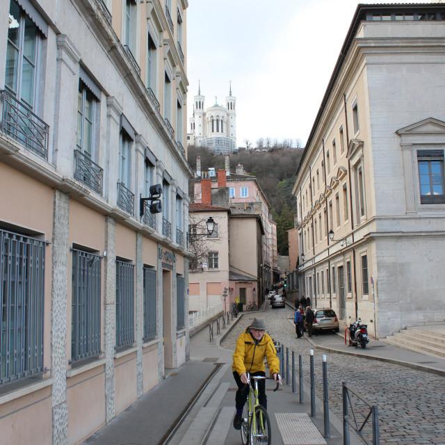 """Easy rider in Lyon."" stock image"