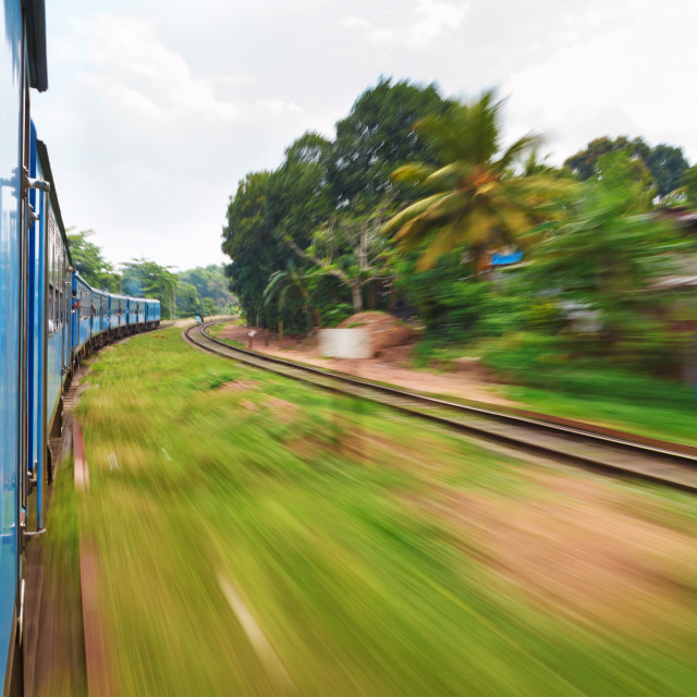 """Travelling by train, Sri Lanka"" stock image"