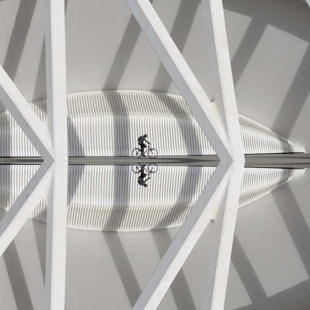 """Cycling between lines"" stock image"