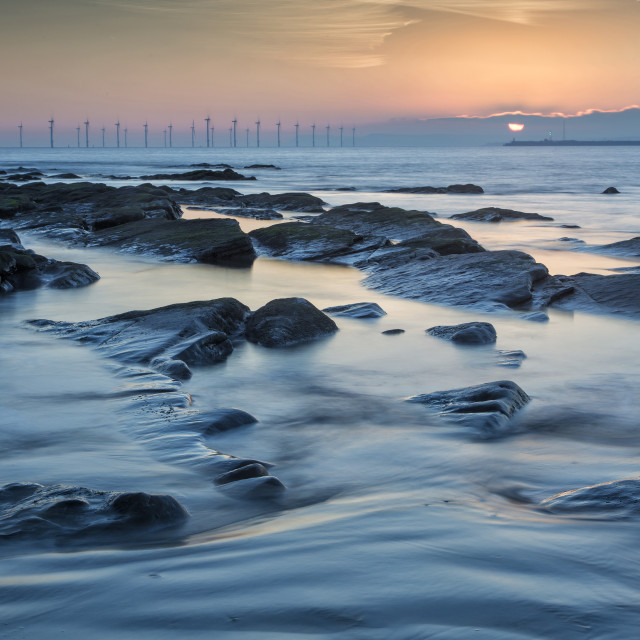 """Seaton Carew Dawn 3"" stock image"