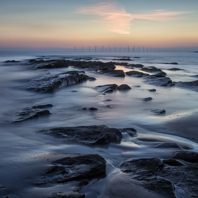 """Seaton Carew Dawn 2"" stock image"