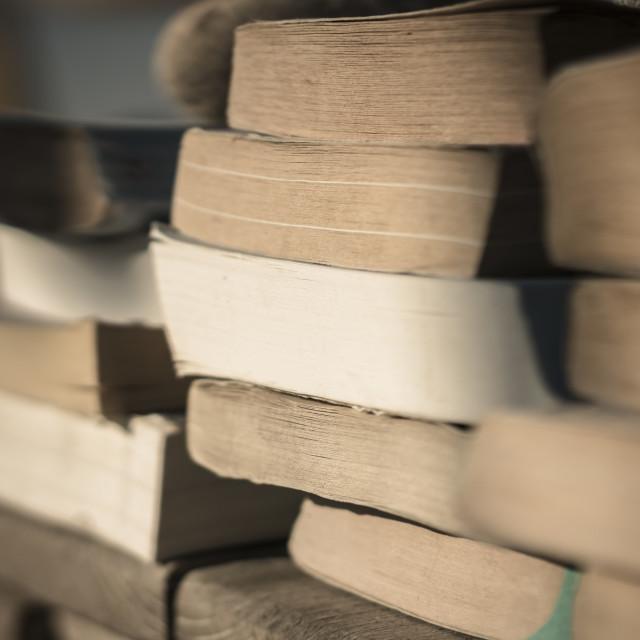 """Books on the beach 4"" stock image"