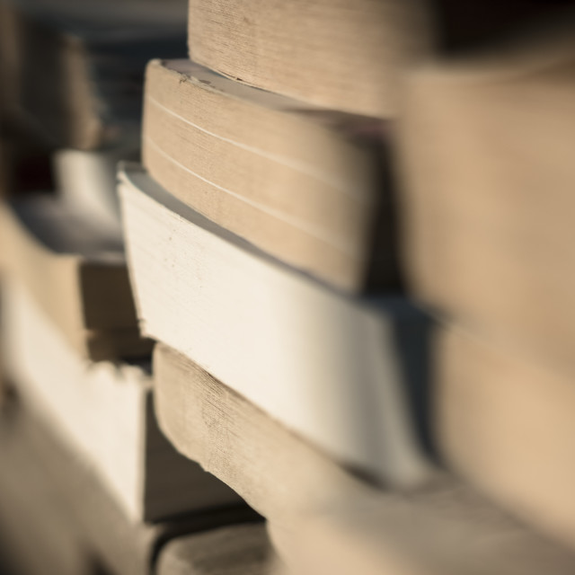 """Books on the beach 3"" stock image"